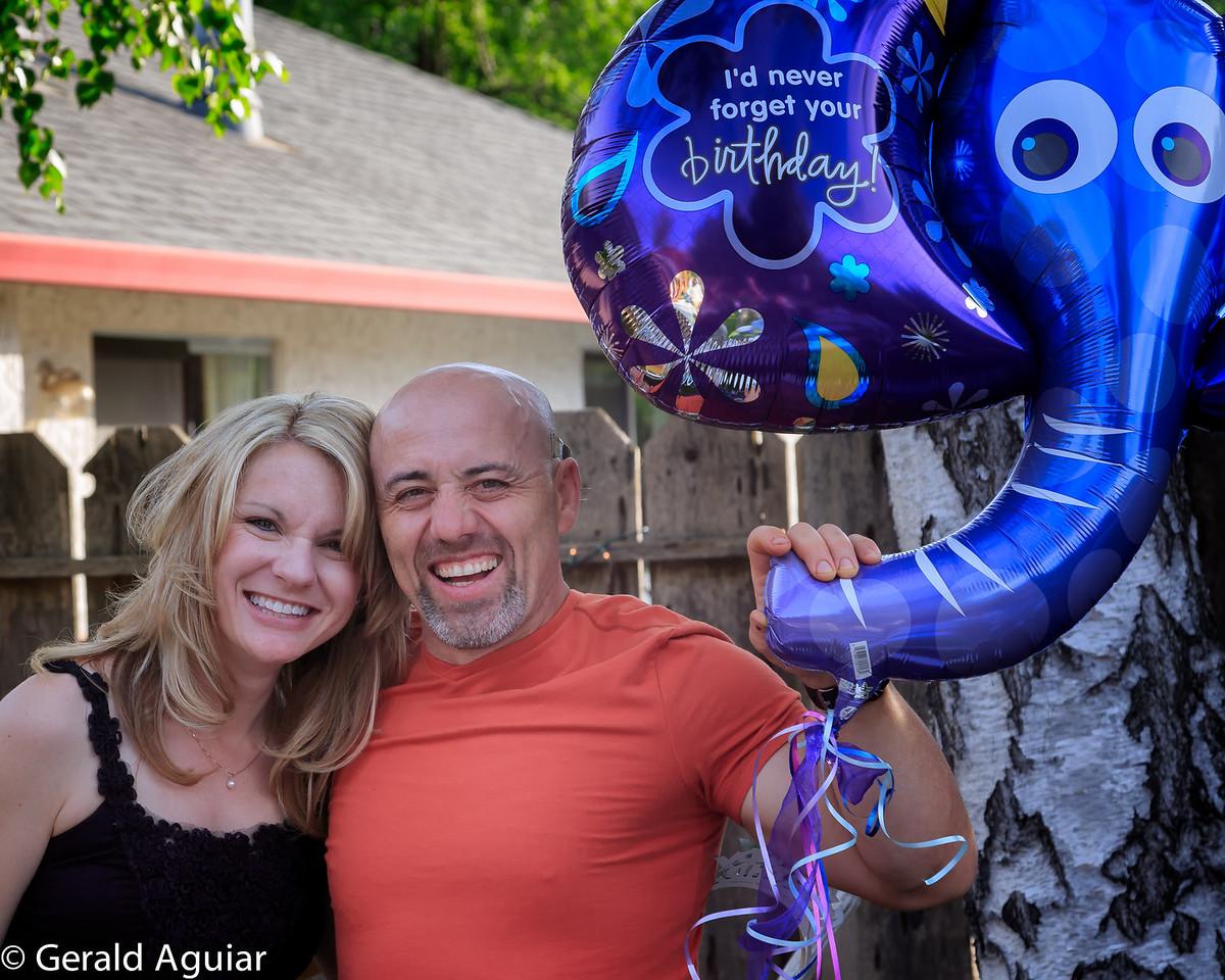 Kristin and Del enjoying their birthdays