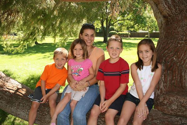 Amanda and James kids 2008