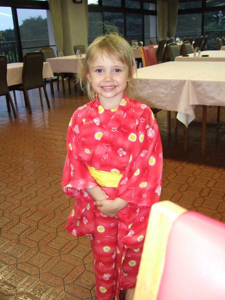 Rachel in her kimono