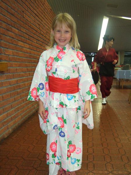 Hannah in her kimono