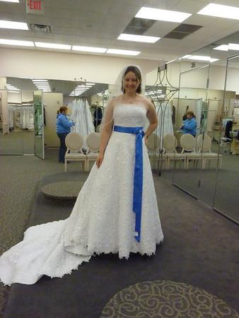 Amanda shops for a wedding dress