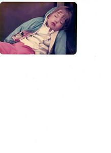 Baby Amanda asleep