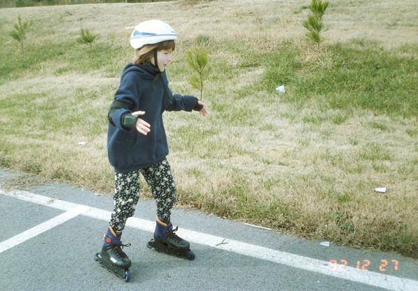Mandy rollerblading