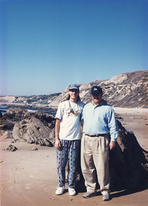 Dave and his father Mike in Laguna Beach (1998)