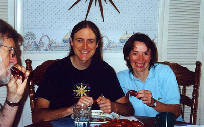 Eating crawfish (April 1999)