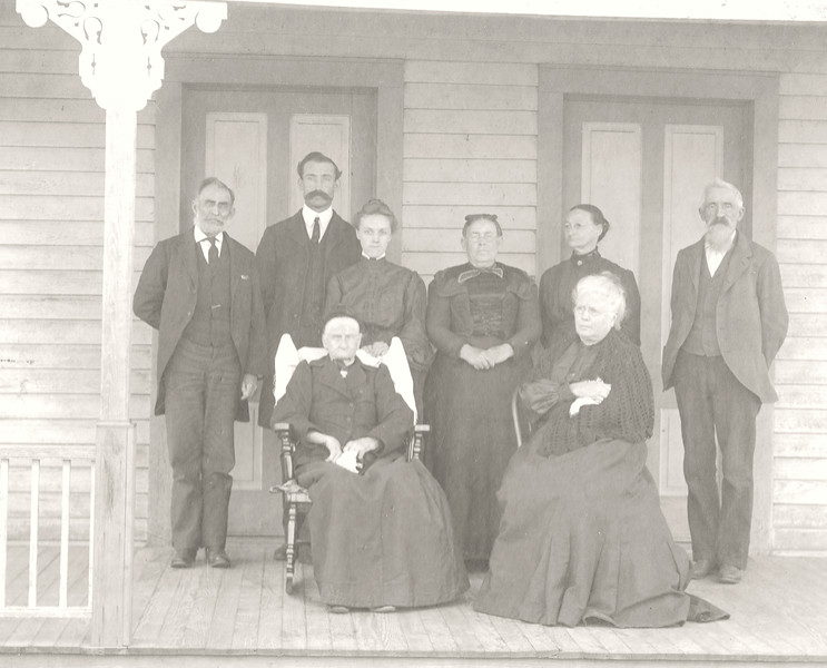 E1g Chas & Eliza Welhausen - group in black on porch c  1906 - Copy