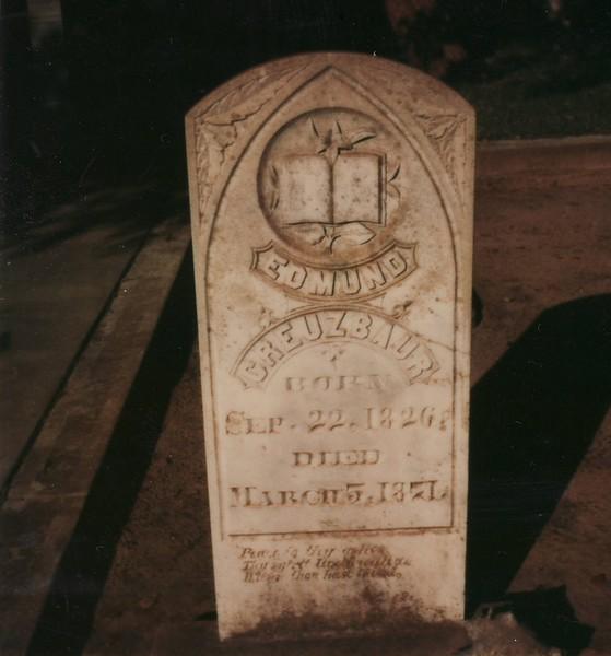 F1f Edmund Creuzbaur headstone 1826-1871