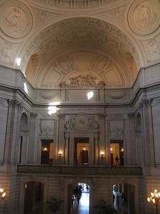Inside the SF City Hall.