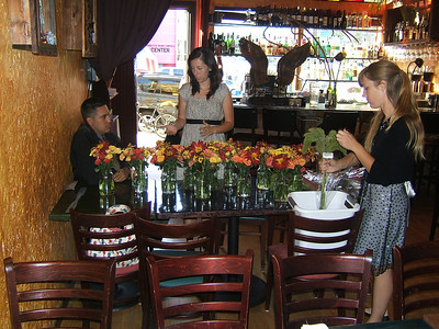 The florists in Destino before the wedding celebration.