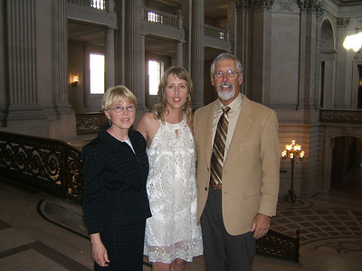 Mom, Amy, Dad.