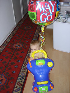 Mommy let me keep this balloon.