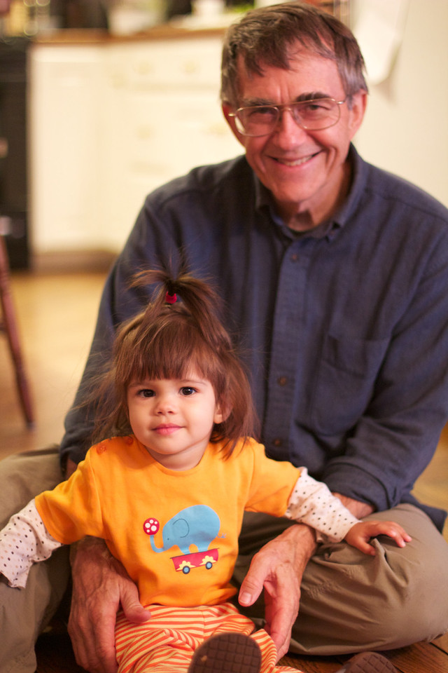 Grandpa's little girl