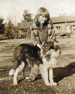 25. Butch and another child for whom Ina babysat c.1950 at Lake Armstrong, near Arlington, WA