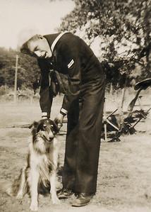 26. Charles Wildren (Chuck) Johnson and Butch, c.1951 at Lake Armstrong near Arlington, WA
