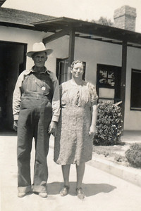 22. George and Minerva Moore, cousins of Reuben Moore, c. 1955, CA