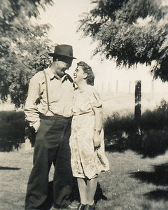 31. Ina May and Gilbert (Gil) Hosier, c. 1951, Myrtle Creek, OR