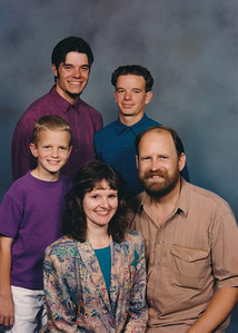 10. James Dennis Hosier (son of Charles Wildren Johnson by first marriage), his wife and children.  2001-ish. James was born in 1956. This is Kit's half-brother's family.