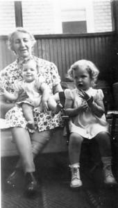Grandma holding Nancy, Beryl