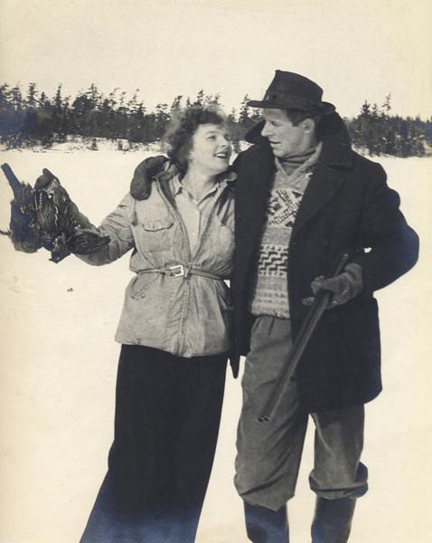 Miriam Rose MacAskill and Donald MacAskill, Jr., after a duck hunt in Canada