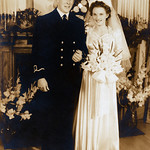 Dashing Donald MacAskill, Jr., and the gorgeous Miriam Rose MacAskill on their wedding day.