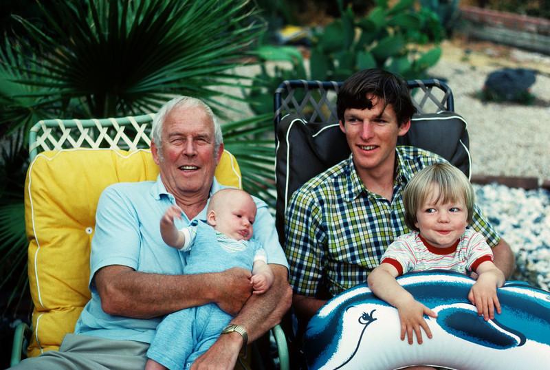 Grandpa Donald, Chris, young Donald and Ben MacAskill
