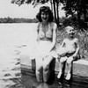 Winnie Hildebrand (Anderson) and Butchie Hildbrand (MacCleish) - Siver Lake, Clayton early 1940's