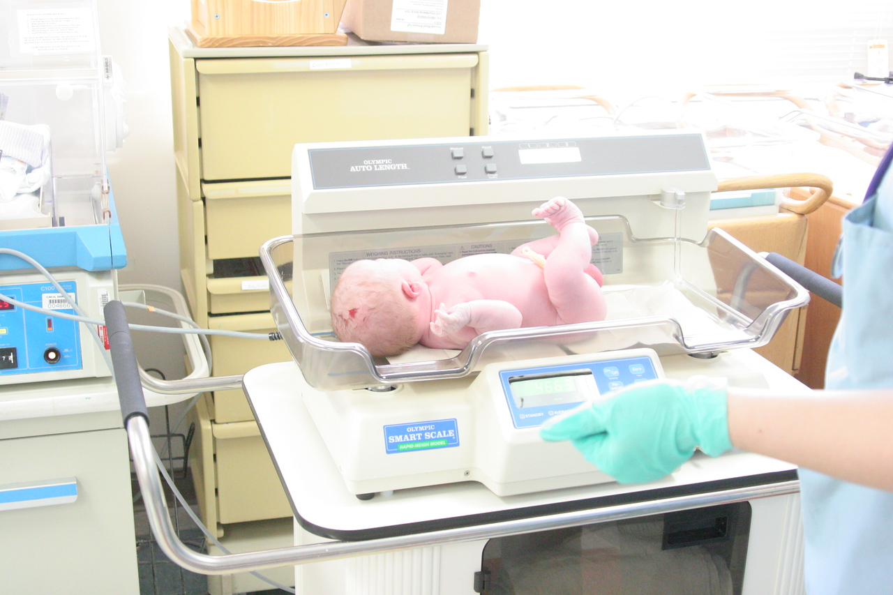 He weighed 10 lbs., 4.4 oz. - the largest baby his nursery nurse had ever had since working at Jacksonville Hospital.