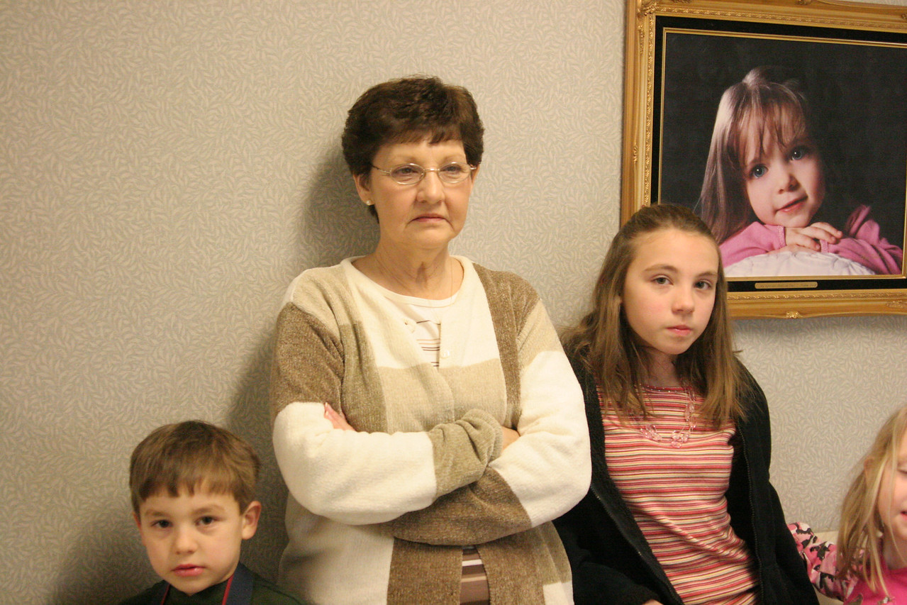 8:15 - Nathan, Betty (Nana), Jacy and Haley waiting in the hallway for Anderson to arrive.