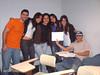 Eu, Natália, Prof. Amita, Daniele, Karime e Richard. O pessoal da faculdade.