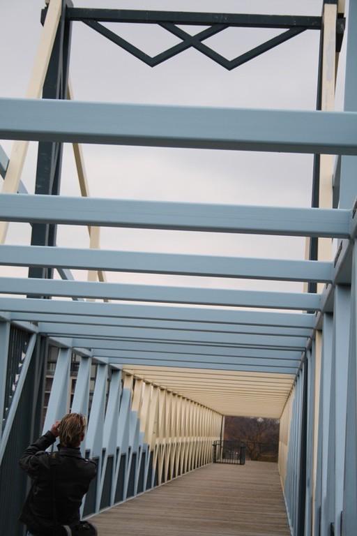 Andrew shoots art bridge