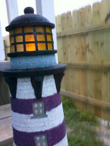 I think this light house is solar