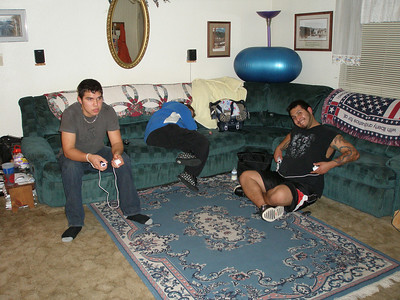 The boys, Donald and Jose playing the video game