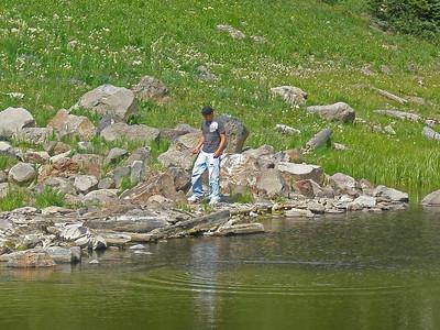 Donald at Battlement Lake