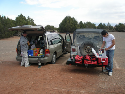 Getting lunch out at The Colorado National Monument picnic area