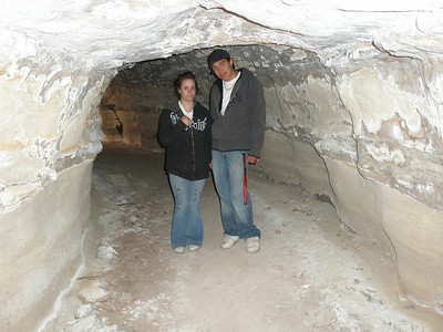 Donald and Tiffany, the cave was pitch black
