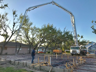 Foundation being poured on 12 Apr 2018