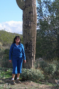 Norma and a Catus in Arizona