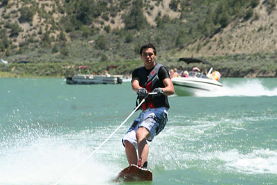 Donald wakeboarding first time ever
