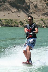 Donald wakeboarding