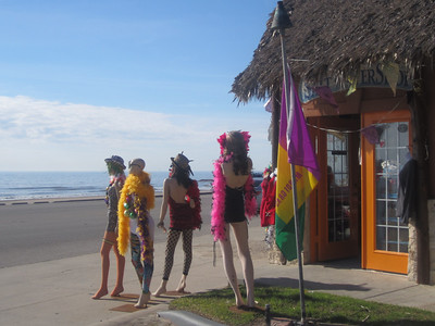 These ladies were standing at the corner all day on Saturday and Grady couldn't figure out why they didn't cross the street to the beach side!