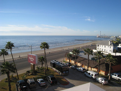 Galveston Beach from our Holiday Inn SunSpree resort balcony