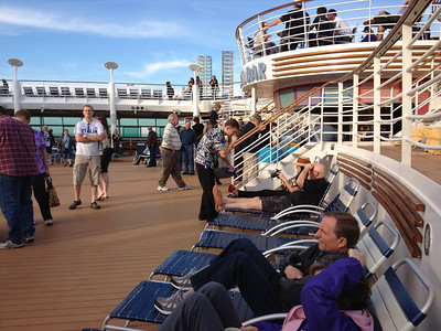 Deck 11 had the pools and the big screen