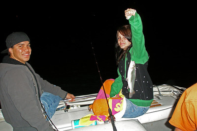 Tiffany picked up where she left off in Texas. Catching lots of fish