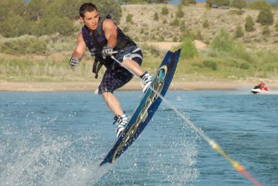 Daniel on wakeboard