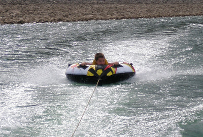Jackson on the tube and going fairly fast, he liked it
