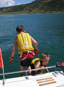AJ and Jackson swimmming