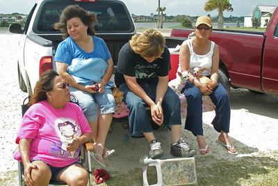 Paula, Debbie, Lorenzo and Norma at Rockport Beach