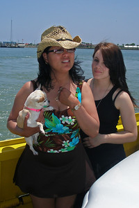 Tweety, Norma and Tiffany on the Ferry in Port Aransas
