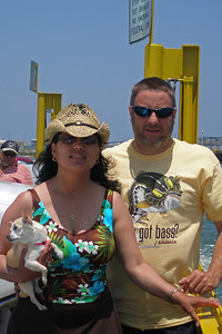 Tweety, Norma and Andrew on the Ferry in Port Aransas