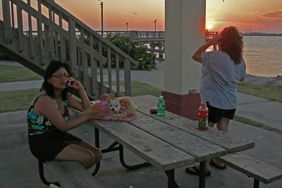 Norma and Paula at Port Aransas